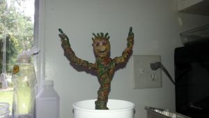 potted baby groot by ajb3art