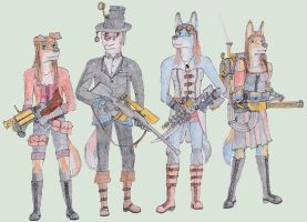 Steampunk Strike Team by polkovniknades