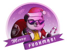 Funky Panda: Merry Funkmas Shirt by petirep