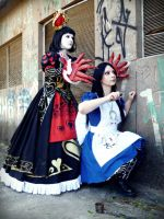 Alice Liddell and Queen of Hearts 2 by LucyIeech