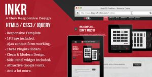 INKR: multi-purpose responsive html5 template by ahmedchan