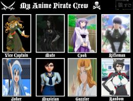 My Anime Pirate Crew by cursedironfist7