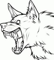 FREE Wolf Lineart by Free-Line-Arts