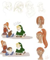 LoZ Return Recon Sketches by antoinette721