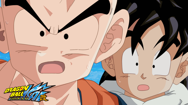 Krillin and Son Gohan by lobo46