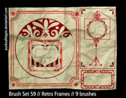 Brush Set 59 - Retro Frames by punksafetypin