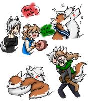 Wolfies and huskies - doodle dump by ask-cyclone