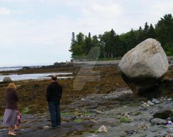 Two People And A Rock by MargaretAntillPhotos
