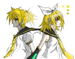 Rin and Len Color test 2 by mandel1