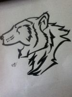 Tribal tattoo design bear by thisiscray