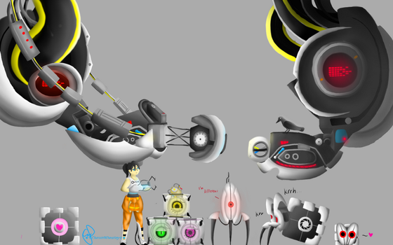 Portal Character sizes by Tanza-Night