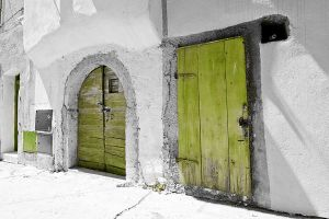 Green Key And Door by tophoo-de