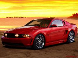 Ford Mustang Sunset by roleedesign