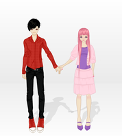 Marshal Lee and Princess Bubblegum by lakin5