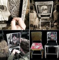 Skull Chair by VexingArt
