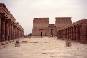 Temple Of Isis courtyard by AbsyntheMyndedArt