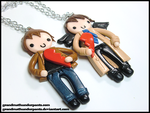 Updated Dean/Castiel BFF Set by GrandmaThunderpants