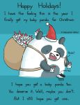 Happy Holidays Panda by sebreg