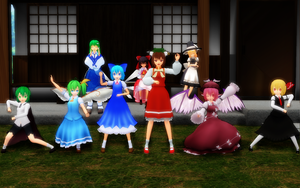 Mighty Morphin Baka Rangers! ... and Chen by Trouble-san