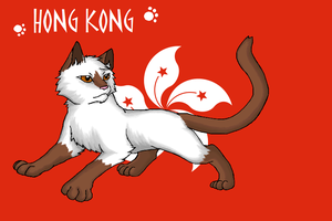 Nekotalia: Hong Kong (flag) by Marshcold