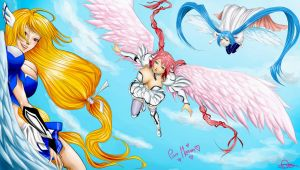 Three angels in the sky by rookie-mayuri