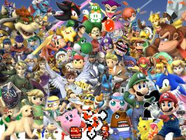 super smash bros brawl Wall by grim53