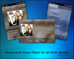 Honeycomb Music Player by ZduneX25