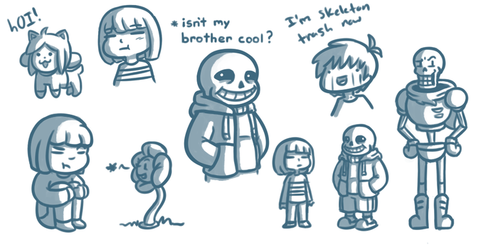 Undertale doobles by Kiyan200