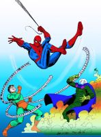 Spider-Man Doc Ock Mysterio COLOR by txboi001