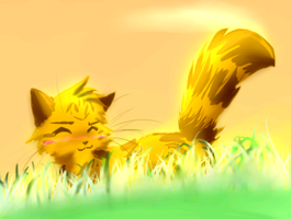 Lionblaze in meadow FAIL by Spottedfire-cat
