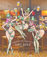 St. Pat Day 2015 same girls different background by larrymalone