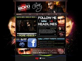 website for rickyj.com by sounddecor