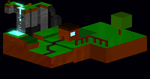 Minecraft  made in hexels by DasterEndermanalbino