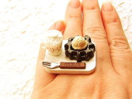 Hot Chocolate Ring Waffle Ring by souzoucreations