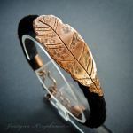 Ethereal: 05 feather bracelet by szaranagayama