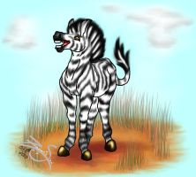 And Suddenly, a Cute Zebra... by Zeryxis