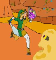 Link and Pipit working as a team by frooooooo
