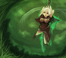 - Riven - League of Legends - by luminaura