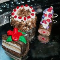 Polymer Clay lots of Cakes by DarkPartOfCarrot