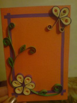 quilling card by allysc