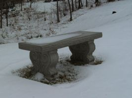 Cemetary Bench by Rubyfire14-Stock
