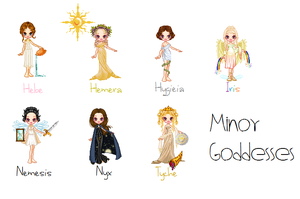 Minor Goddesses by MadieKristineC