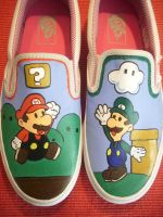 Super Mario Shoes by kekseloph