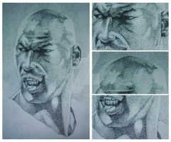 michael jordan pointillism by gilbert86II