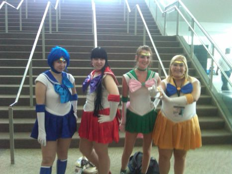 Sailor Scouts Otakon 2010 by inuyasha222