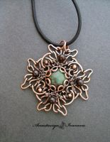 Pendant with zoisite by nastya-iv83