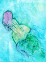 Jellyfish- watercolor practice by Quivieres