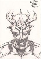 Savage Oppress Sketch Card by gordzilla1971