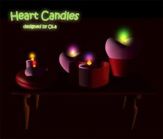 Heart candles by BubbleCloud