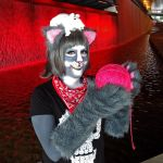 Newsprint by the waterfall, Anthrocon 2015 by toberkitty